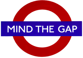 Please mind the gap. 70 days to go.